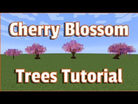 Minecraft Cherry Blossom Trees Tutorial How to Make Perfect Trees Every Time