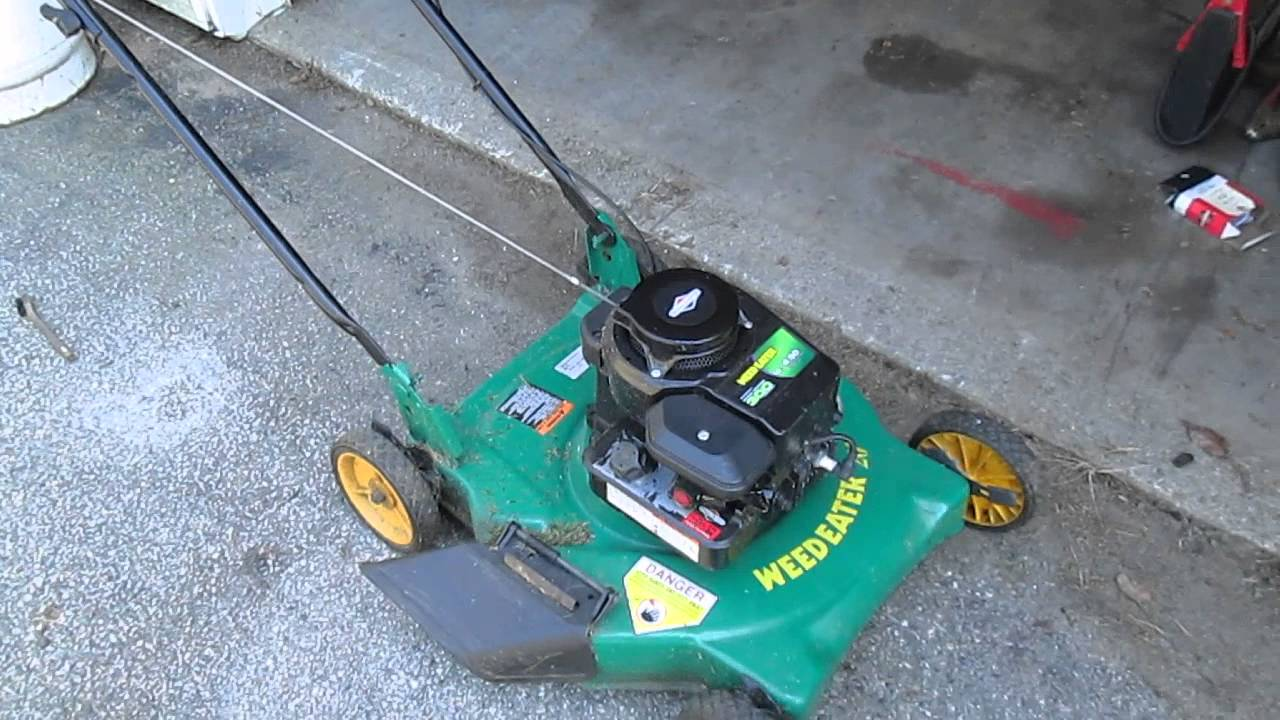 for 20 inch weedeater push mower you [ 1280 x 720 Pixel ]