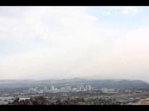 8 18 13 - Thunderstorm outflow pushes American Fire Smoke into Reno