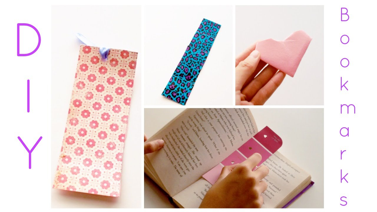 Diy cute and simple bookmarks youtube How to make a simple bookmark