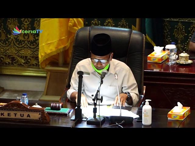 SIARAN TUNDA RAPAT PARIPURNA DPRD PROVINSI RIAU TANGGAL 22 APRIL 2020 TENTANG