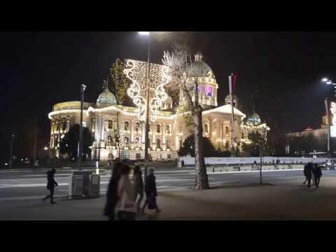 Belgrade, Serbia Christmas/New Year's Decorations 2016