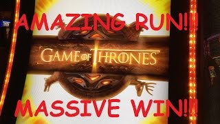 **SUPER AMAZING RUN**$1,000+ BONUS COLLECTION** Game of Thrones Slot Machine(I was NOT expecting these results at all out of this machine, but I will gladly take it!!! I LOVE this game and show as I've said I don't know how many times now ..., 2016-07-13T12:10:45.000Z)