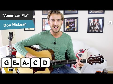 American Pie Guitar Lesson Tutorial - IDEAL FOR BEGINNERS!