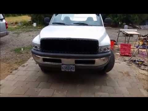 2001 dodge ram 1500 custom grill youtube 2001 dodge ram 1500 custom grill