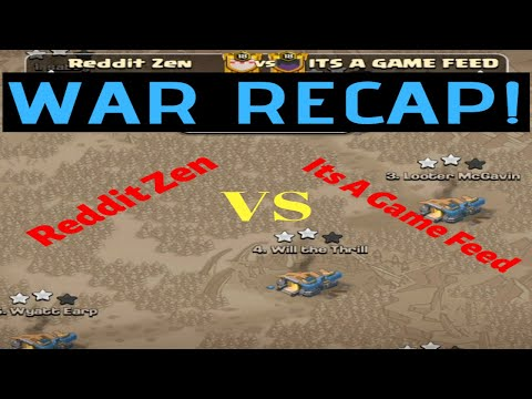 Reddit Zen Vs Its A Game Feed War Recap | Clash Of Clans War Analysis | Top War Clans