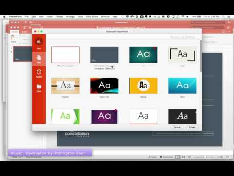 Installing A Custom Template In PowerPoint 2016 for Mac
