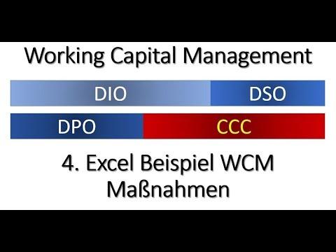 Working Capital Management 4 - Beispiel WCM Optimierung