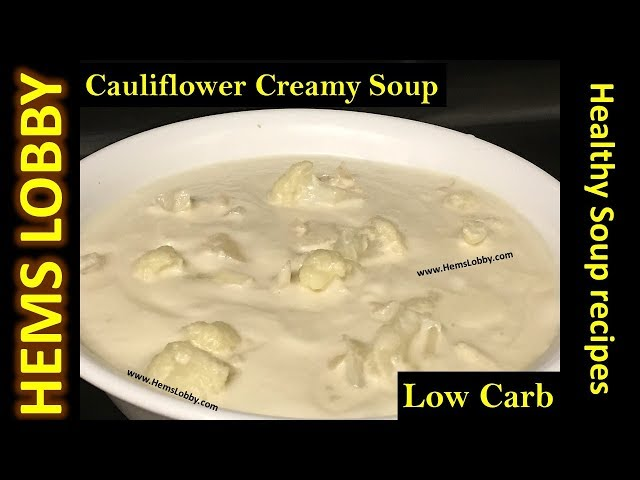 How to make Cauliflower soup in Tamil   Keto recipes in Tamil with English subtitles  Keto recipes