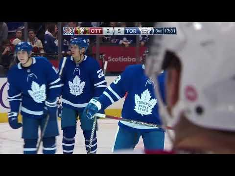 Nazem Kadri 18th Goal of the Season! 2/10/2018 (Ottawa Senators at Toronto Maple Leafs)