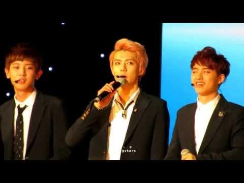 130825 KCON EXO - English Intros (All) & Talk (Chanyeol Focus)