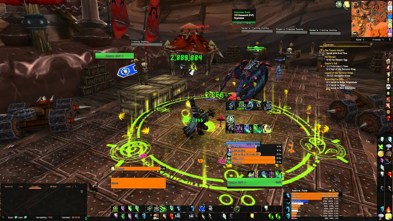 WoW WoD Resto Druid UI using TMW & ElvUI
