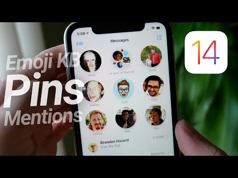 iOS 14 Messages: Pins, Mentions & Emoji Keyboard!