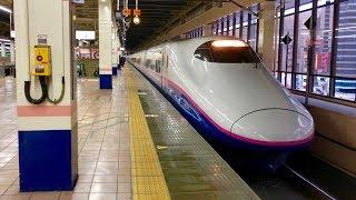 【この編成はLED未更新車です(4K60fps)】JR上越新幹線 大宮駅18番線 とき327号 新潟行き 10両編成発車