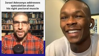 Israel Adesanya Speaks about His Saggy Pec and Steroids