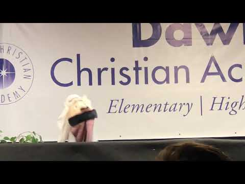 Dawn Christian Academy 2017 puppet show 7th & 8th grade