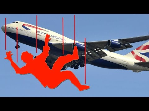 Stowaway falls 1,000 feet; Man hides inside wheel well surviving 2 hours flight - Compilation