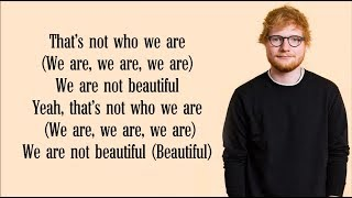 Gambar cover Ed Sheeran - Beautiful People (Lyrics) FT. Khalid