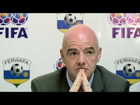 GIANNI INFANTINO, FIFA PRESIDENT'S VISIT TO RWANDA