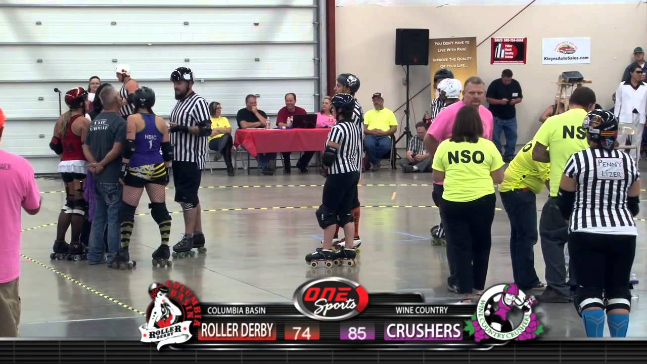 Columbia basin roller derby vs yakima valley wine country crushers 9 27 14