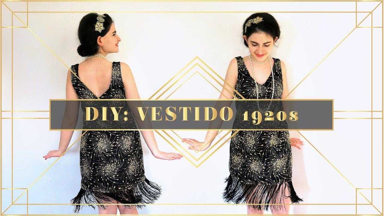 Diy Vestido Años 20 Flapper Costume I Diypnotizada Youtube