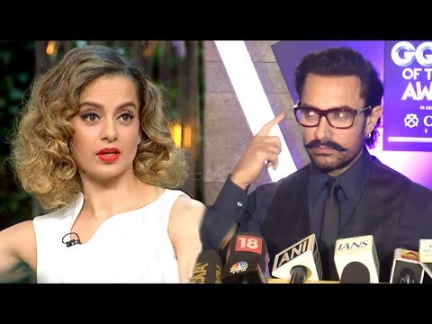 Aamir Khan's BEST Reply On Kangana Ranaut's Nepotism Comment On Koffee With Karan Season 5