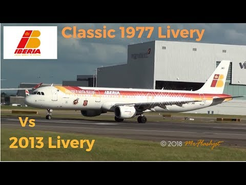 IBERIA - Classic 1977 Livery  Vs  2013 Livery - A319 / A320 / A321 Action!