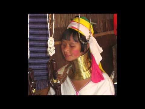 Thailand Langhalsfrauen Giraffenhalsfrauen Long Necks with Brassrings Long Neck Karen