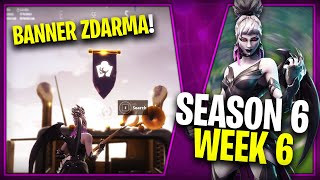 WHERE is the THIRD FREE BANNER FOR SEASON 6 (Week 6)-Fortnite Battle Royale CZ/SK