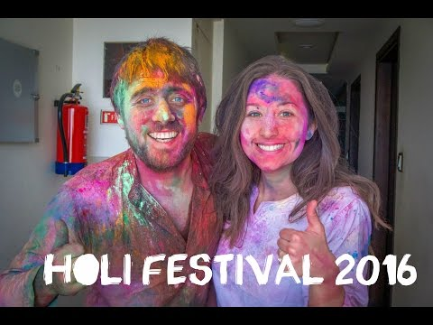 Holi Festival 2016 in India (Mathura) celebrations