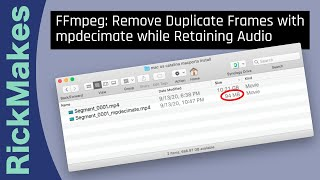 FFmpeg: Remove Duplicate Frames with mpdecimate while Retaining Audio