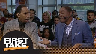 Stephen A. challenges Isiah Thomas saying JR Smith 'bounced back' in Game 3 | First Take | ESPN