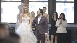 Runway Model Gets Engaged During Wedding Dress Fashion Show