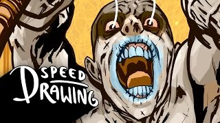 Speed Drawing: Mad Max Warrior