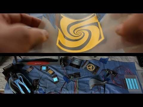 Electroluminescent paint and multi-channel control circuit