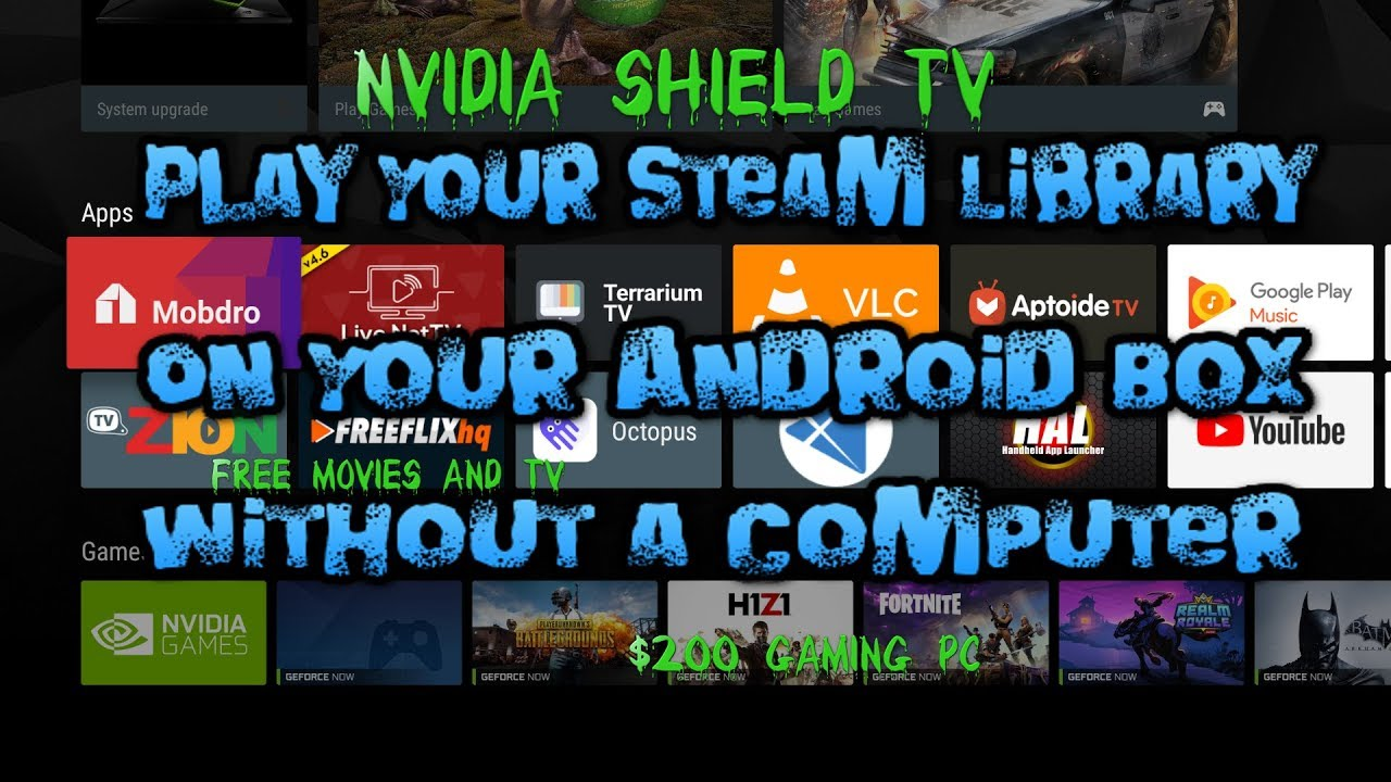 Worlds BEST AndroidTV Box, PLAY STEAM Games without Computer