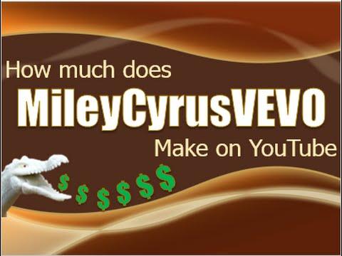 How much does MileyCyrusVEVO make on YouTube 2015