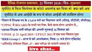 Daily Employment/Education News- 21 September 2018/ Bihar-13634 पदों पर भर्ती
