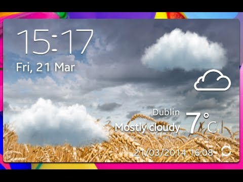 where is the weather widget on galaxy s5