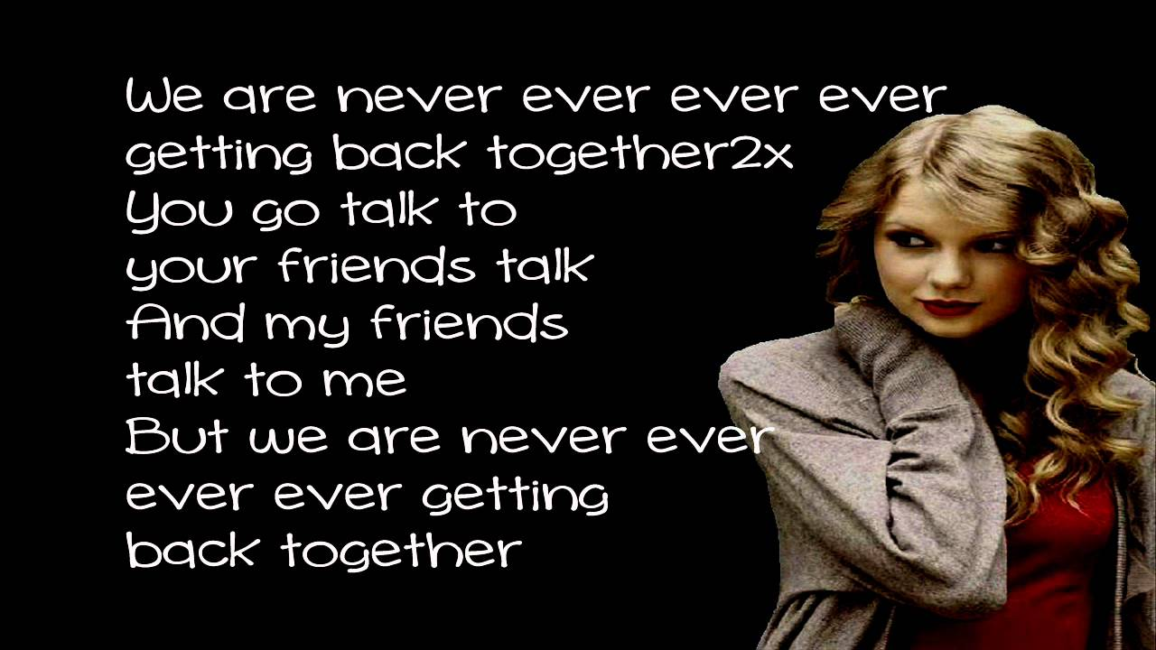 we are never ever getting back together 楽譜