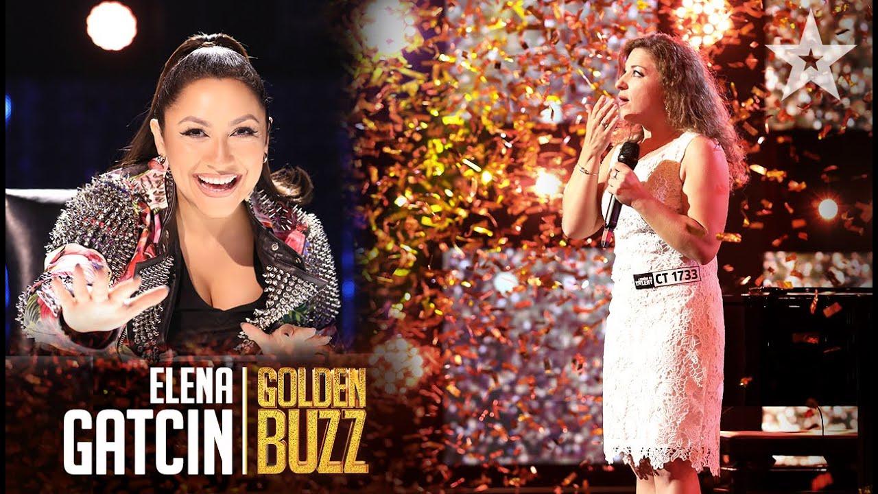 Elena Gatcin a trezit emoții puternice, meritând Golden Buzz