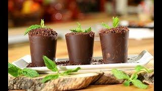 Çikolatadan Yenilebilir Saksı Yapımı - Semen Öner - Yemek Tarifleri