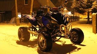 QuadVlog #11 - Jazda Quadem Zimą, Miota Nim Jak Szatan, Pierwszy Śnieg - Yamaha Raptor 700