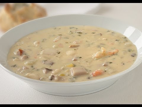 Easy Seafood Chowder Video Recipe Youtube