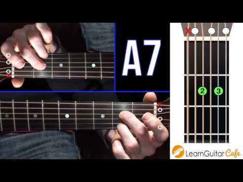 How To Play Open A7 On Guitar Open Chord Library Youtube