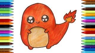 Hitokage Pixelart Dibujos para colorear    Como dibujar Hitokage Pixelart de Pokémon