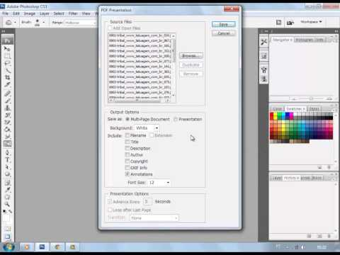 How To Convert Jpg To Pdf By Photoshop Youtube
