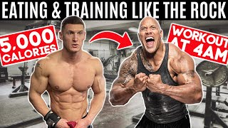 Bodybuilder tries The Rock's DIET & WORKOUT for 24 hours... *5,000 CALORIES*