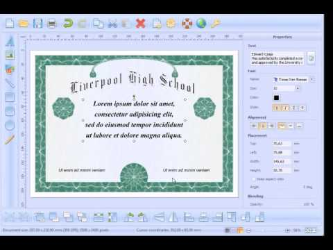 How to create and print High School Diploma - YouTube - hacer diplomas online
