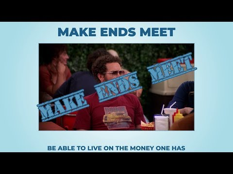 Make both ends meet idiomatic expression